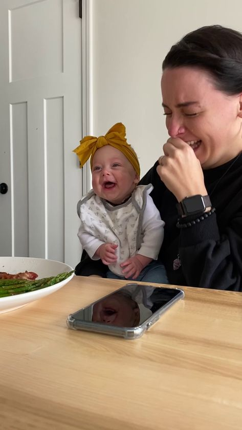 My wife lost it when our baby laughed for the first time. #memes