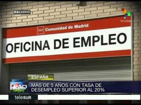 España suma ya más de 5 años con desempleo superior al 20%