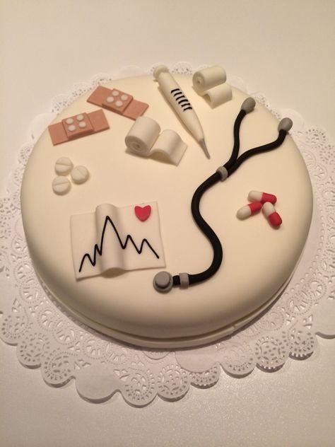 Verpleegster dokters taart