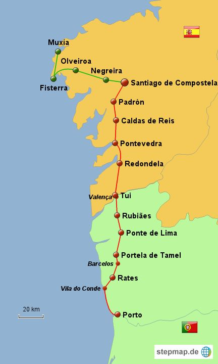 Best Camino Portuguese Images On Pinterest Camino Portuguese - Portugal hiking map