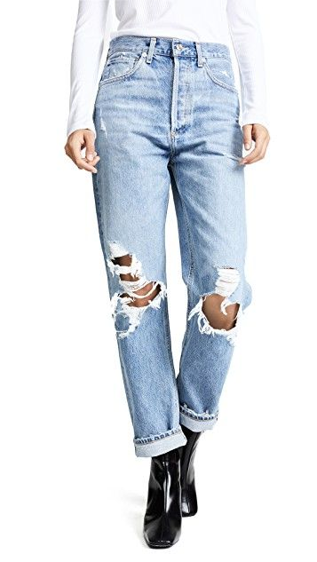 1097fb23 90s Fit Mid Rise Loose Fit Jeans in 2019   Leg Pants Stylish   Loose ...