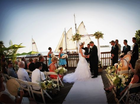 Wedding On The Ocean Front Deck At Key Resort West Florida Pinterest Resorts And Stuff