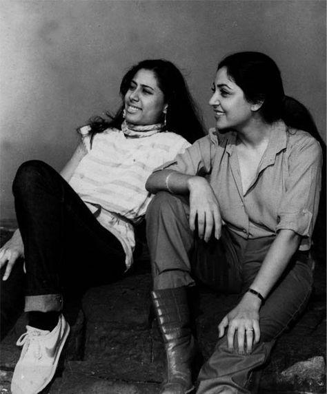 Deepti naval with Smita Patil