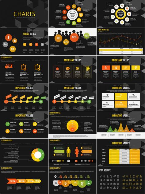 Social Networks Worldwide PowerPoint charts | ImagineLayout.com