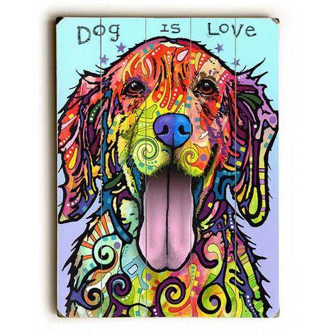 - Product: golden retriever wall sticker decal - Sizes: x x x x - Style: pop art, splash art, animal art - Colors: pink, magenta, orange