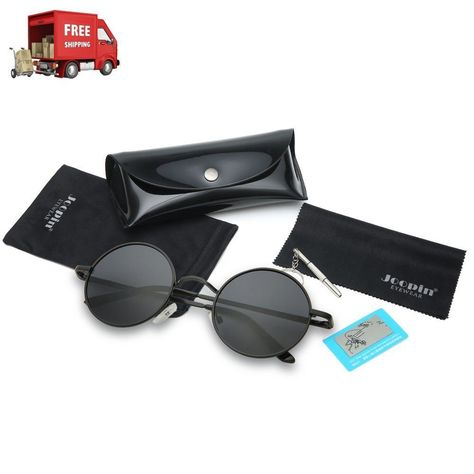ab3c7f4da8 Joopin-Round Retro Polaroid Sunglasses Driving Polarized Top Quality Lens  NEW  Joopin  unisexadult