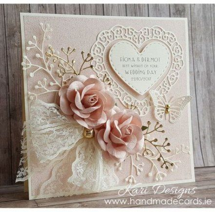 41 Ideas Wedding Card Hand Made Diy Vintage Wedding Cards Handmade Wedding Day Cards Homemade Wedding Cards