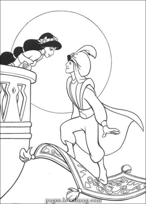 Great Printable Drawings Of Aladdin Coloring For Teenagers Free Disney Coloring Pages Disney Princess Coloring Pages Cartoon Coloring Pages