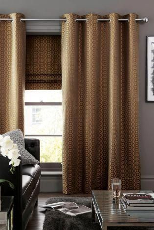Who Knew Copper Curtains Could Look So Chic Living Room Perfection Bestblackoutcurtainsforbedroomsan Gold Curtains Living Room Curtains Living Room Curtains
