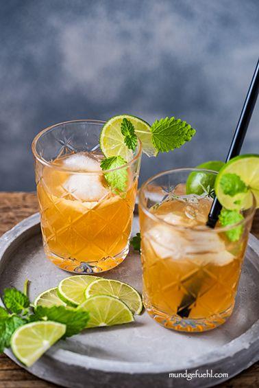 Mocktail Mit Orange Zitronenmelisse Und Pfefferminze Rezept Mundgefuhl Pfefferminze Zitronenmelisse Erfrischende Cocktails