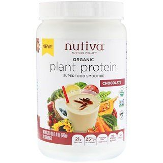 Nutiva Organic Plant Protein Chocolate 1 4 Lb 620 G Discontinued Item Plant Protein Superfood Protein Organic Plants