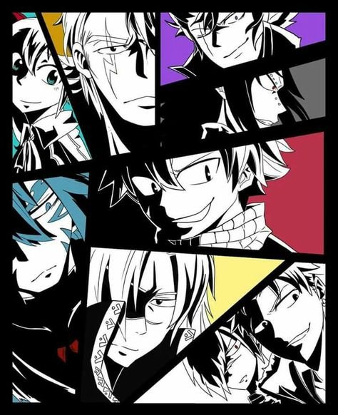 Acnologia, Natsu, Wendy, Gajeel, Laxus, Cobra, Sting and Rogue. PLEASE TELL ME WHO'S THAT OTHER PERSON?!?!?!