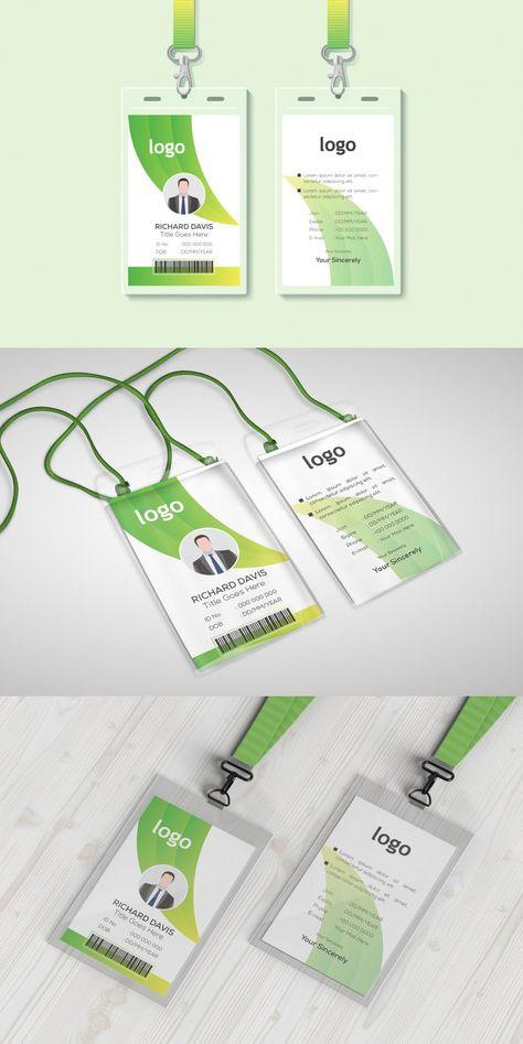 Modern Green ID Card Template