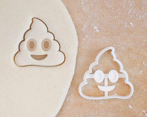 Items similar to Poop Emoji Cookie Cutter – Emoji Gift Emoji Birthday Cookie Cutter Emoji Valentines Day Cookies Kiss Emoji Party Heart Emoji Love Emoji on Etsy