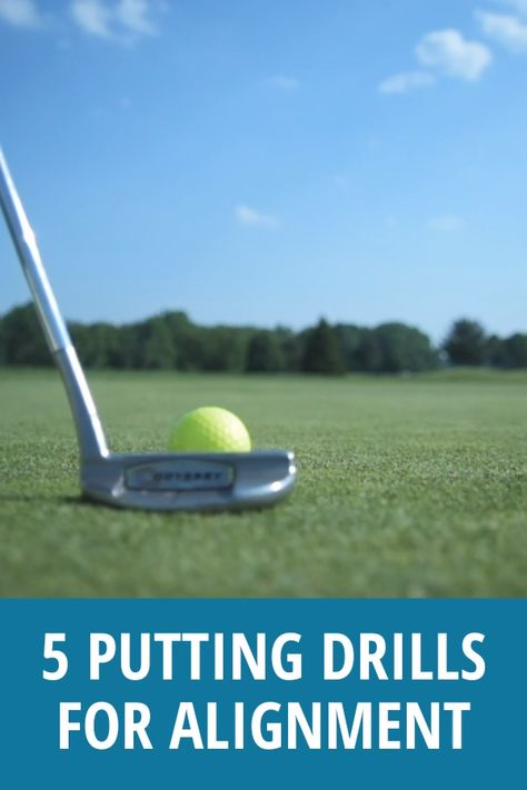 These golf putting tips will get you started on the right track...literally. If you aren't aligned properly then you never have a chance to make the putt. Try these 5 drills and see the improvement. #underpargoals #golftips