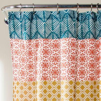 Lush Decor Bohemian Stripe 72 In 2020 Striped Shower Curtains
