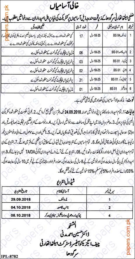 Jobs In District Health Authority Sargodha   Government Jobs