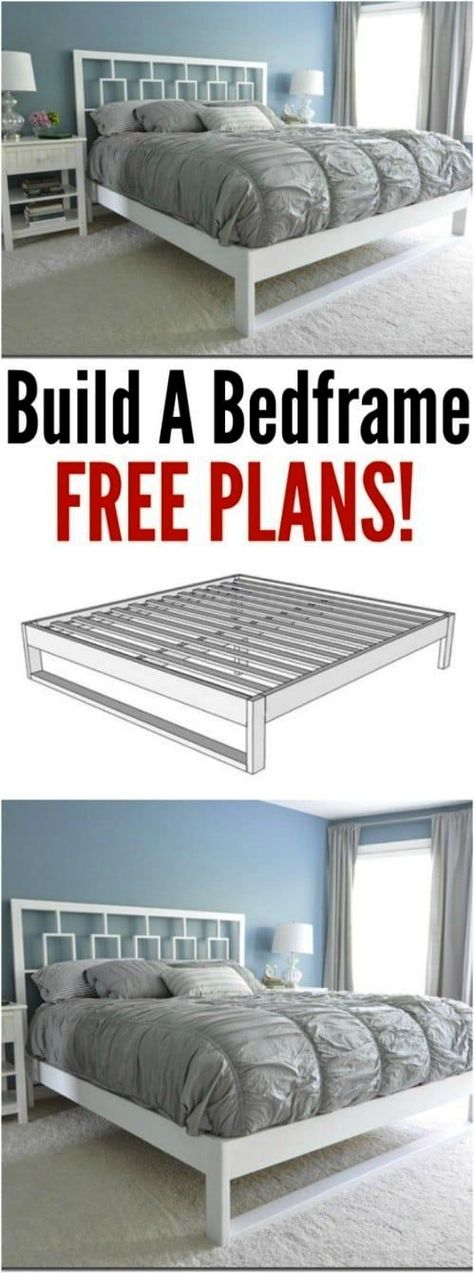#projects #comfort #frame #sleep #style #diy #bed #and #21 #in21 DIY bed frame projects - sleep in style and comfort 21 DIY bed frame projects - sleep in style and comfort 21 DIY bed frame projects - sleep in style and comfort   Step by step tutorial with images giving instructions on how to make a king size platform bed with a hotel style chevron headboard.  Inexpensive and easy queen bed frame . Also has sizes for twin and full. Great tutorial with pictures and item list.  Ana White | B...