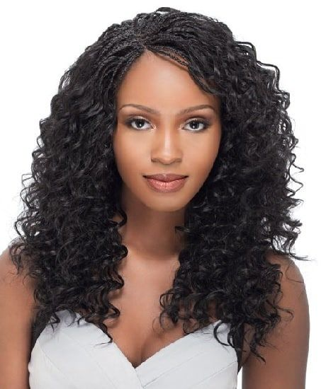 65 Stunning Hairstyles For African Women In 2020 Braids Hairstyles Pictures Wavy Hair With Braid Braided Hairstyles