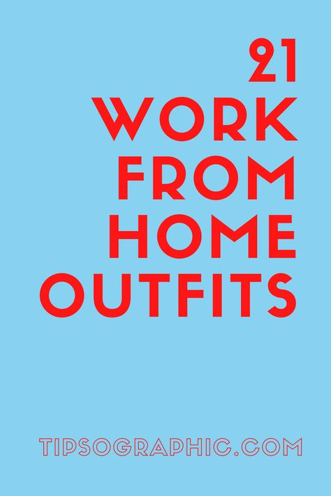 The best comfy work-from-home clothes that are cool and professional. Cute, easy, and cheap casual work from home outfits. Find out more cozy home office fashion ideas on Tipsographic.com
