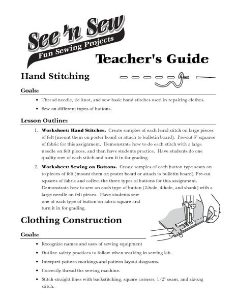 Sewing Machine Parts Lesson Plans Worksheets Reviewed By