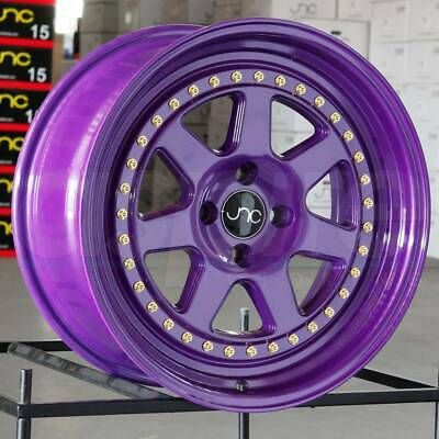 Ad Ebay Link 17x8 17x9 Jnc 048 Jnc048 4x100 30 25 Candy Purple Wheel New Set 4 Wheels And Tires Wheel Rims Wheel