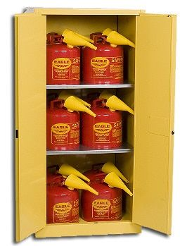 Eagle 60 Gallon Combo Safety Cabinet With 12 Safety Cans 1962sc12 Closed Storage Cabinets Locker Storage Cabinet