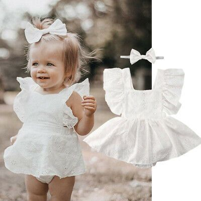 Ad Ebay Url Newborn Infant Baby Girl White Princess Lace Romper Dress Clothes Outfit Sets Baby Girl Lace Romper Girl Lace Romper Baby Girl Outfits Newborn
