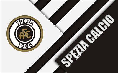 Download Wallpapers Spezia Calcio 4k Material Design Logo White Black Abstraction Emblem Italian Football Club La Spezia Italy Serie B Besthqwallpapers Material Design Sports Wallpapers Logos