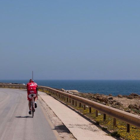 Andy Miller On Instagram Cyclist On The Coast Road Between Mazara Del Vallo And Torretta Granitola Italy2015 Sic Mazara Del Vallo Instagram Instagram Posts