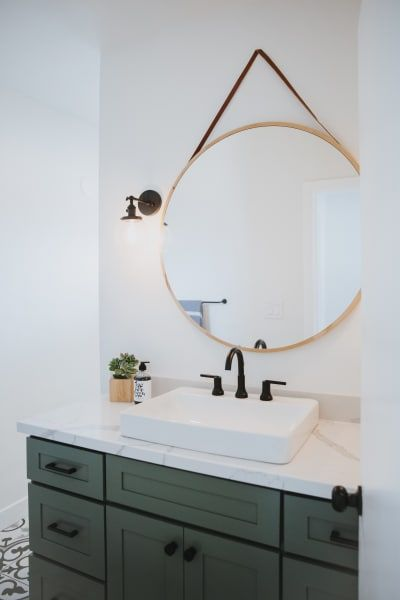 San Diego Surfer Style Bachelor Pad Home Tour Green Bathroom Bathroom Design Green Vanity