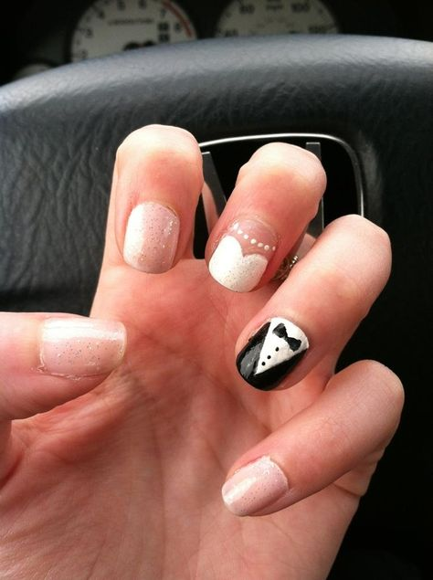 Very Literal Manicure | 24 Delightfully Cool Ideas For Wedding Nails. I will do this the week of and then get them done pretty the day before.