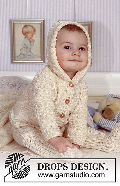 Ravelry B11 9 Hooded Jacket And Trousers In Rib Pattern By Drops
