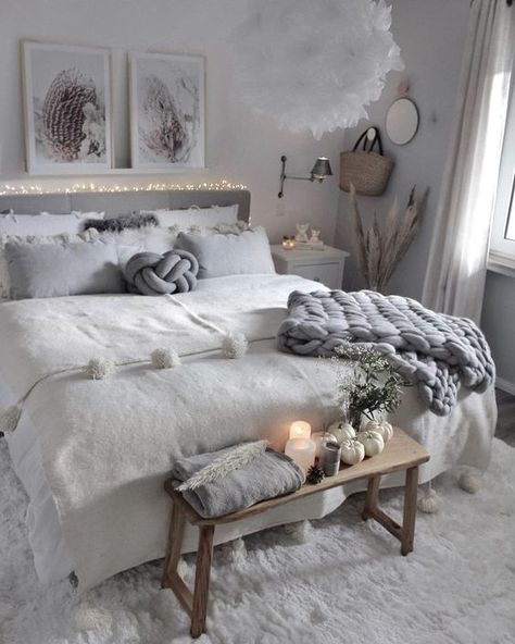 Home Interior Decoration 40 Grey and White Bedroom Ideas.Home Interior Decoration 40 Grey and White Bedroom Ideas Living Room Bedroom, Home Decor Bedroom, Diy Room Decor, Bedroom Furniture, Bedroom Ideas, Grey Furniture, Furniture Online, Discount Furniture, Furniture Design