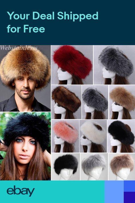 2b2552f5 Women Men Russian Fluffy Hat Artificial Fox Fur Headband Winter Ear Warm Ski  Cap