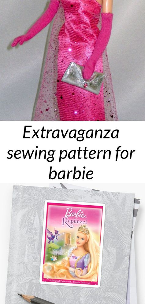 Extravaganza sewing pattern for barbie