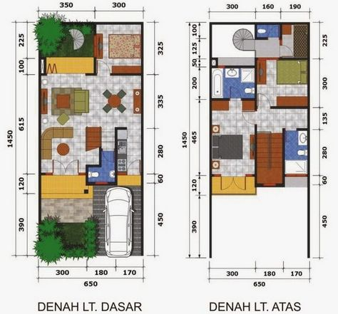 16 Ide Tipe 50 Denah Rumah Rumah Desain Rumah Minimalis