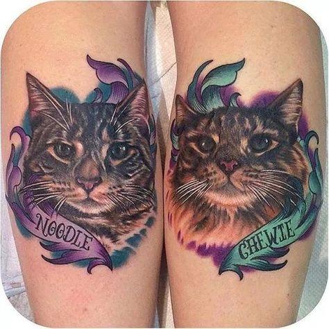 32 Majestic Cat Portrait Tattoos | Tattoodo.com