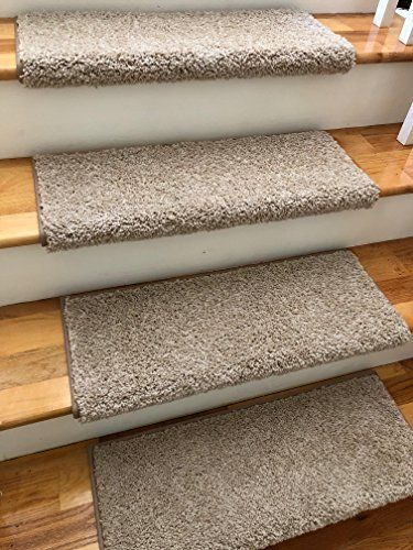 One 27 Wide X 10 Deep Tread For 1 Thick Step Almond Https Www Amazon Com Dp B07dyk25v6 Ref Carpet Stair Treads Bullnose Carpet Stair Treads