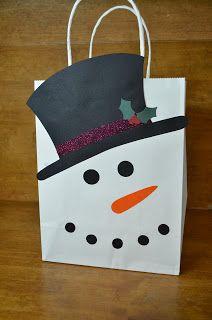 Santa Claus Father Christmas Snowman Shopping Tote Bag Ladies Gift