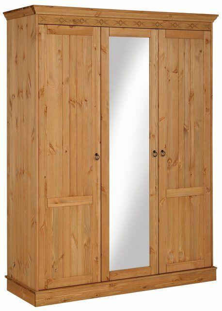 Axel Kleiderschrank 3 Türig Kiefer Teilmassiv Bedroom