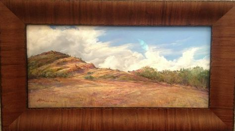 Lindy Severns Shares Art Framing Tips A Frame Should Become Part Of The Painting Without Calling Attention To Itself This 10 X 22 Fine Art Art Painting Frames