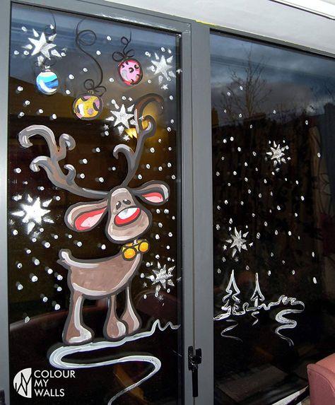 Christmas Window Decoration Ideas Home
