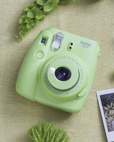 Fujifilm Instax Mini 9 Instant Camera in Lime Green. Gifts For Her Who Has Everything. Mothers Day gifts for mom who has everything.