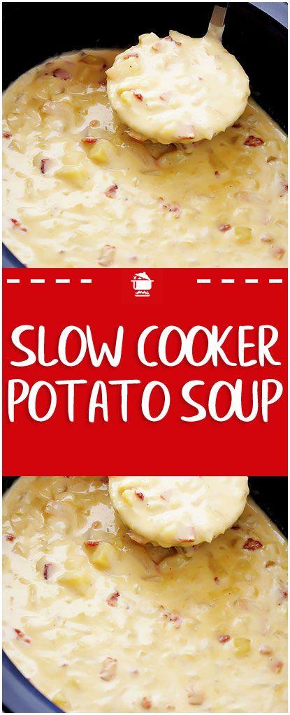 Slow Cooker Potato Soup Sup Kentang Resep Makanan Resep Masakan