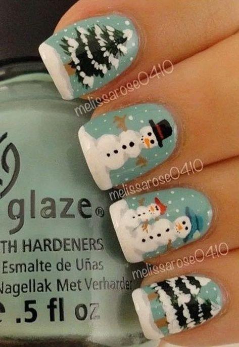 22 Nail Art For Christmas Ideas « homifi.com #nailsartdesigns #nailsartdaily #nailsarte #acrylicnailsideas