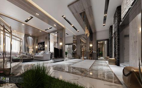luxury living room + main hall