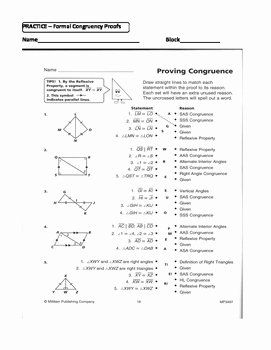 Congruent Triangles Worksheet Answers Inspirational Geometry Unit
