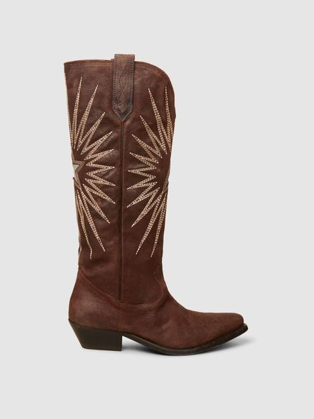 29dca459ae7 GOLDEN GOOSE DELUXE BRAND | Wish Star Embroidered Leather Boots ...