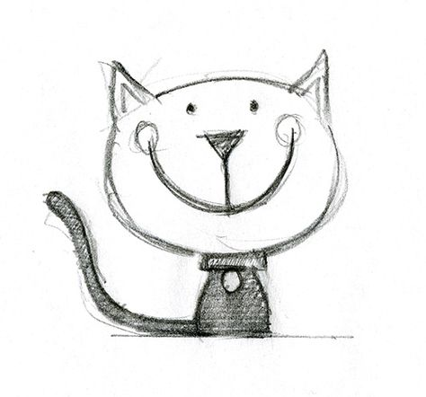 2nd Birthday Ecard Cat Sketch